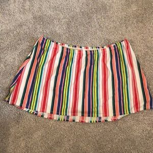 EUC Striped Cacique Swim Skirt - Plus Size